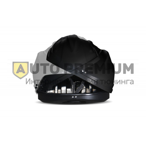 Автобокс на крышу Черный Turino Sport (480 л) Аэродинамический с двусторонним открыванием на крышу автомобиля